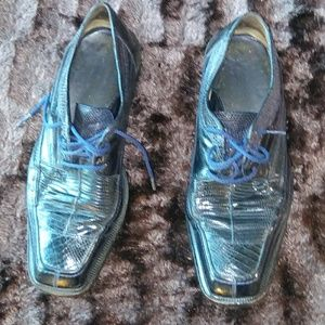Other - Elegant Chic Navy Crocodile Dress Shoes!